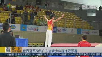 世界冠军助阵广东省青少年蹦床冠军赛