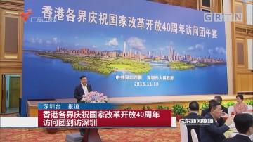 香港各界庆祝国家改革开放40周年访问团到访深圳