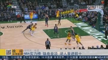 NBA实力榜 雄鹿登顶 湖人首进前十