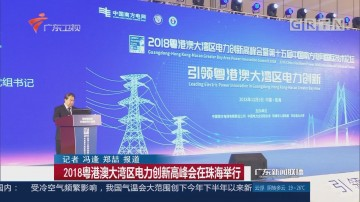 2018粤港澳大湾区电力创新高峰会在珠海举行