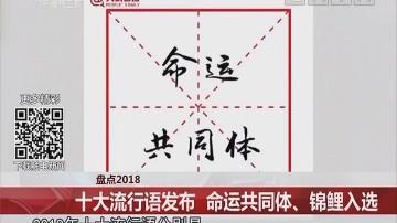 盘点2018:十大流行语发布 命运共同体、锦鲤入选