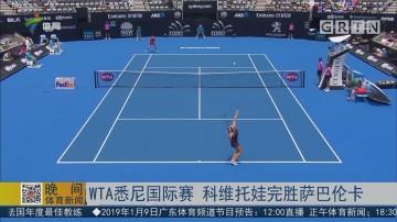 WTA悉尼国际赛 科维托娃完胜萨巴伦卡