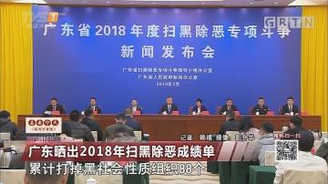 广东晒出2018年扫黑除恶成绩单