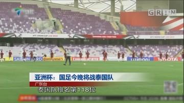 亚洲杯:国足今晚将战泰国队