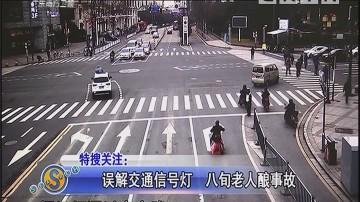 误解交通信号灯 八旬老人酿事故