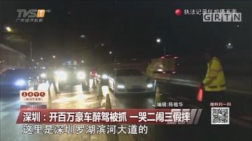 深圳:开百万豪车醉驾被抓 一哭二闹三假摔