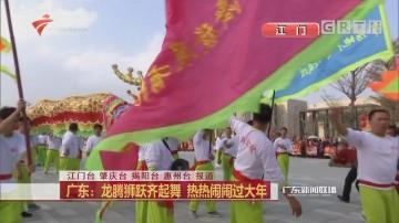 广东:龙腾狮跃齐起舞 热热闹闹过大年