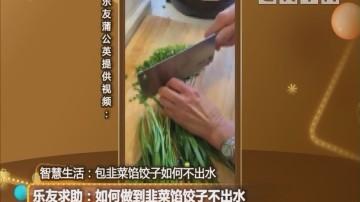 乐友求助:如何做到韭菜馅饺子不出水