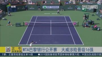 WTA巴黎银行公开赛 大威涉险晋级16强