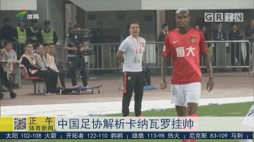 中国足协解析卡纳瓦罗挂帅