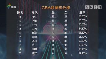 CBA联赛积分榜
