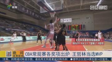 CBA常规赛各奖项出炉 王哲林当选MVP