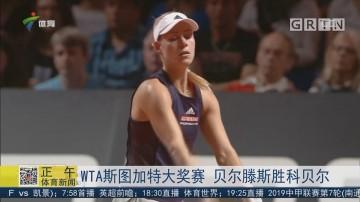 WTA斯图加特大奖赛 贝尔滕斯胜科贝尔