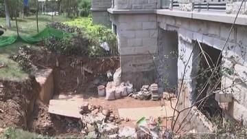 业主报料:小区绿化带被私挖 违建成风