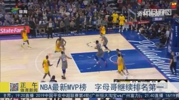 NBA最新MVP榜 字母哥继续排名第一