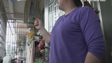 深圳:女童头卡防盗网悬空 好街坊拉棉被救援