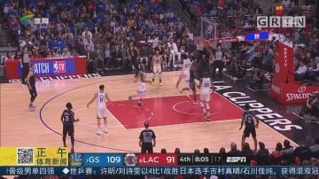 NBA 作客洛杉矶 勇士击败快船晋级次轮