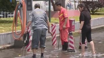 广州:今天中午突降暴雨 城区部分街道又水浸