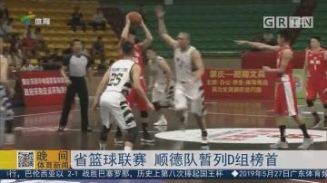 省篮球联赛 顺德队暂列D组榜首