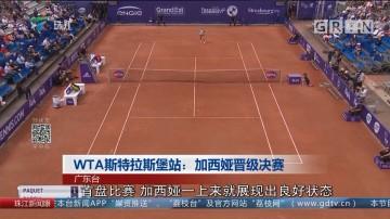 WTA斯特拉斯堡站:加西娅晋级决赛