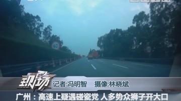 广州:高速上疑遇碰瓷党 人多势众狮子开大口