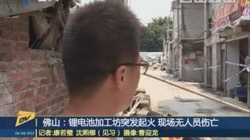 佛山:锂电池加工坊突发起火 现场无人员伤亡
