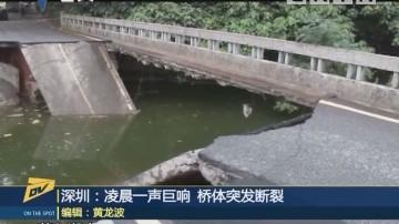 深圳:凌晨一声巨响 桥体突发断裂