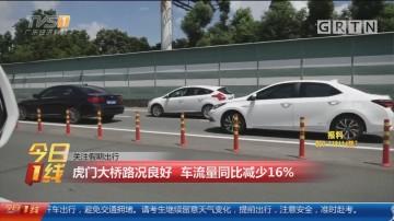 关注假期出行:虎门大桥路况良好 车流量同比减少16%