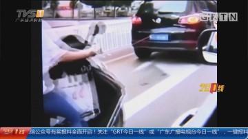 江门:开车拖狗惹争议 车主被罚100元扣2分