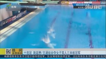 十连冠 施廷懋/王涵组合夺女子双人三米板冠军