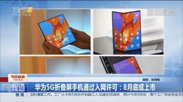 华为5G折叠屏手机通过入网许可:8月底或上市