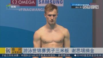 游泳世锦赛男子三米板 谢思埸摘金
