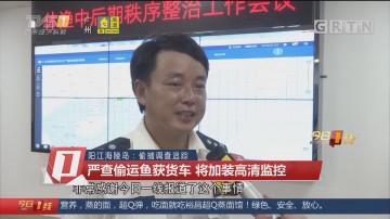 阳江海陵岛:偷捕调查追踪:严查偷运鱼获货车 将加装高清监控
