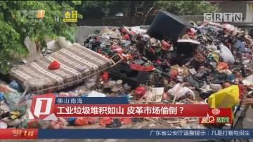 佛山南海:工业垃圾堆积如山 皮革市场偷倒?