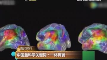 医起同行 中国脑科学关键词:一体两翼