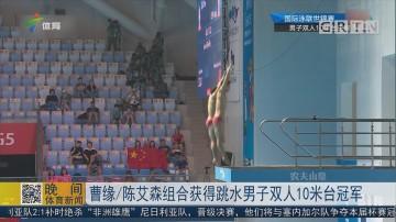 曹缘/陈艾森组合获得跳水男子双人10米台冠军