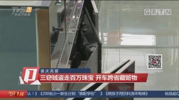 肇庆高要:三窃贼盗走百万珠宝 开车跨省藏赃物