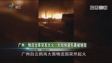 广州:物流仓库突发大火 大批快递包裹被烧毁