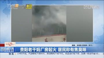 贵阳老干妈厂房起火 居民称有焦臭味