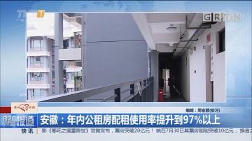 安徽:年内公租房配租使用率提升到97%以上