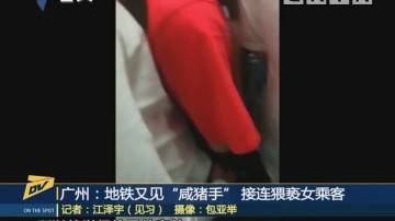 """(DV现场)广州:地铁又见""""咸猪手"""" 接连猥亵女乘客"""