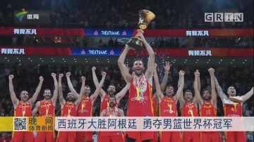 西班牙大胜阿根廷 勇夺男篮世界杯冠军