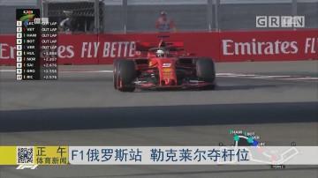 F1俄罗斯站 勒克莱尔夺杆位