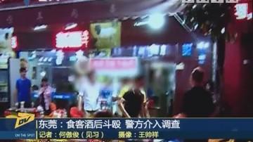 (DV现场)东莞:食客酒后斗殴 警方介入调查