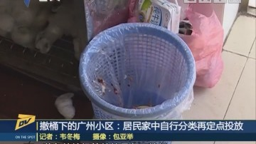 (DV現場)撤桶下的廣州小區:居民家中自行分類再定點投放