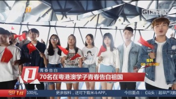 青春告白:70名在粤港澳学子青春告白祖国