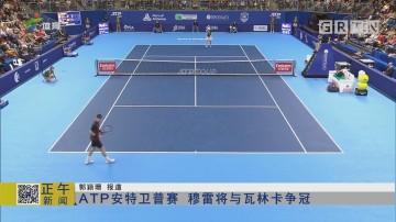 ATP安特卫普赛 穆雷将与瓦林卡争冠
