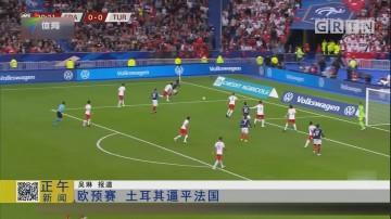 欧预赛 土耳其逼平法国