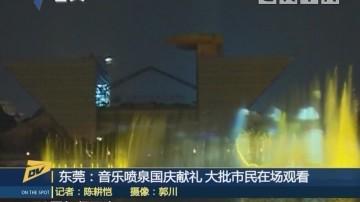 (DV现场)东莞:音乐喷泉国庆献礼 大批市民在场观看