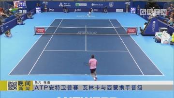 ATP安特卫普赛 瓦林卡与西蒙携手晋级
